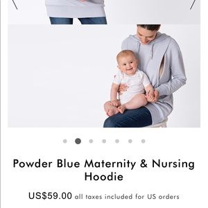 Maternity and Nursing Hoodie Sweatshirt